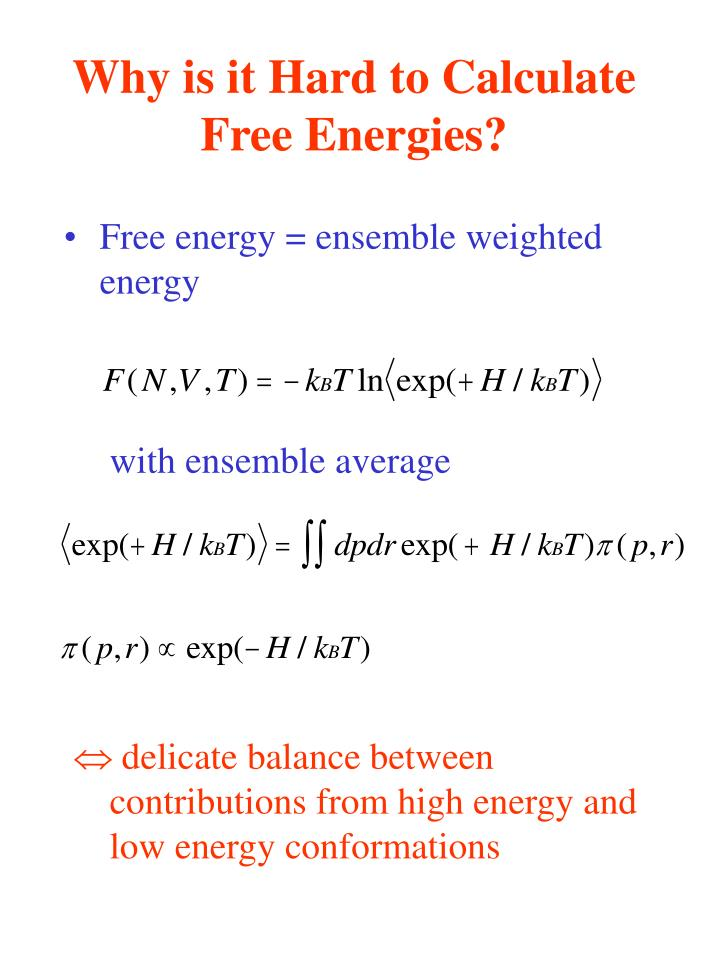 Why is it Hard to Calculate Free Energies?