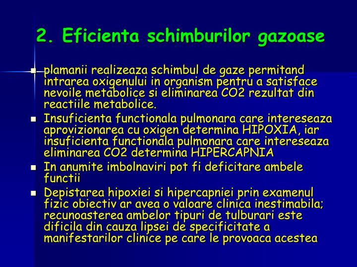 2. Eficienta schimburilor gazoase