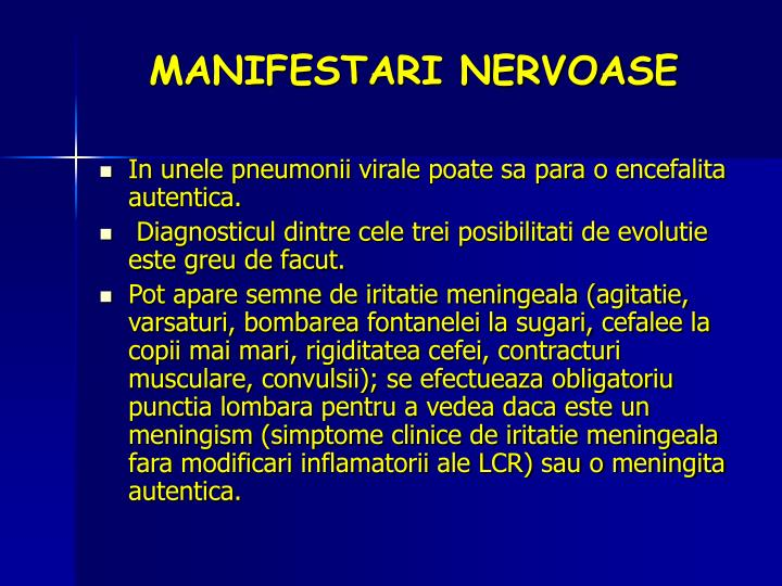 MANIFESTARI NERVOASE