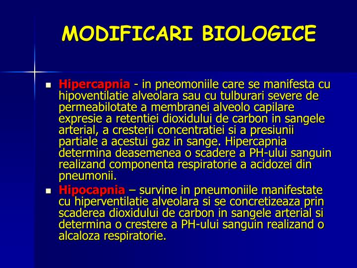 MODIFICARI BIOLOGICE