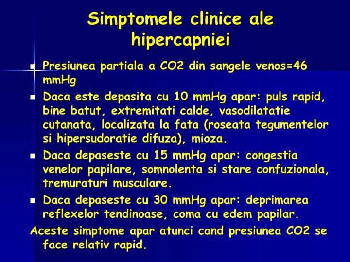Simptomele clinice ale hipercapniei