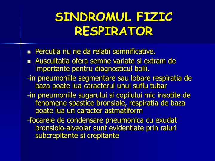 SINDROMUL FIZIC RESPIRATOR