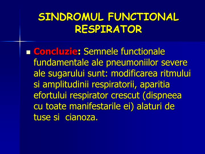 SINDROMUL FUNCTIONAL RESPIRATOR