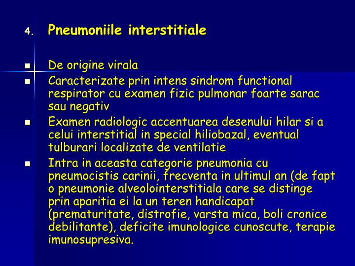 Pneumoniile interstitiale