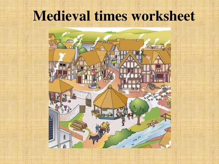 Medieval times worksheet