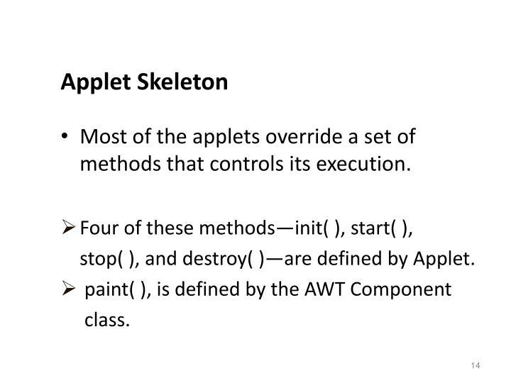 Applet Skeleton