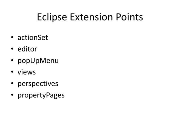 Eclipse Extension Points