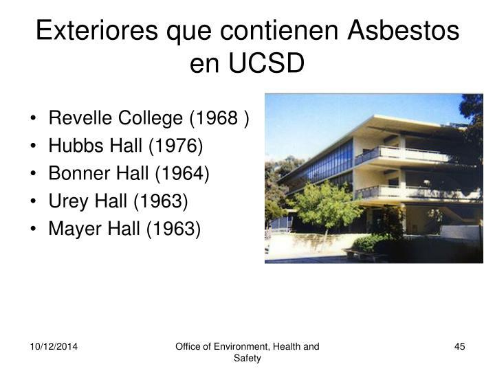 Exteriores que contienen Asbestos