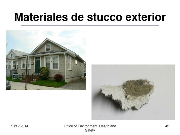 Materiales de stucco exterior