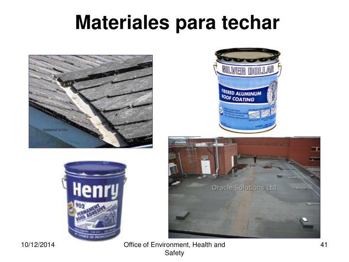 Materiales para techar