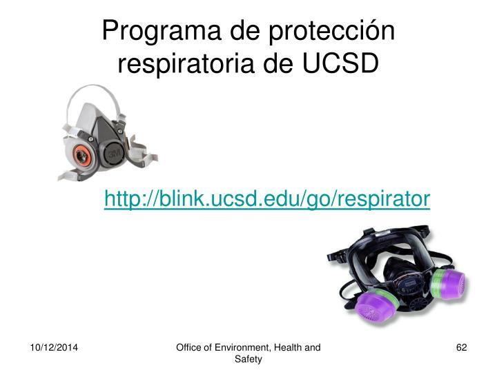 Programa de protección respiratoria de UCSD