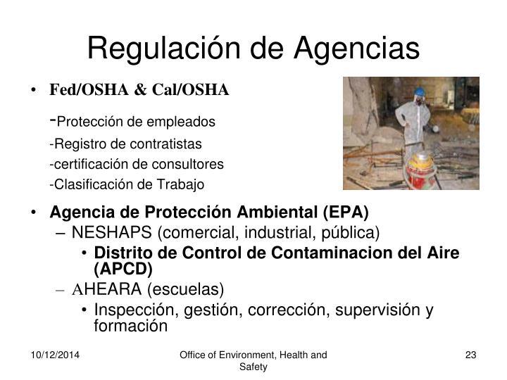 Regulación de Agencias