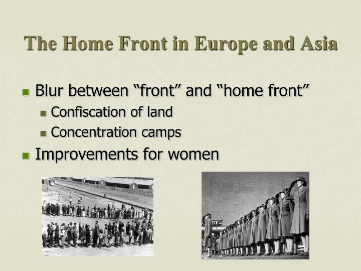 The Home Front in Europe and Asia