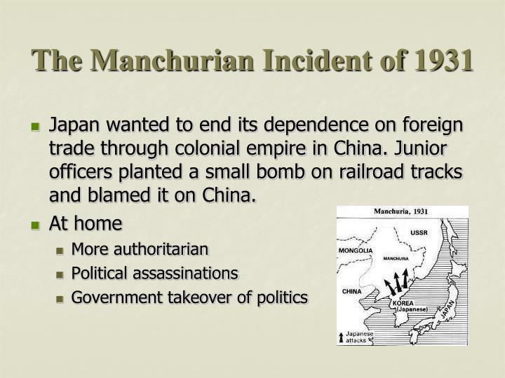 The Manchurian Incident of 1931