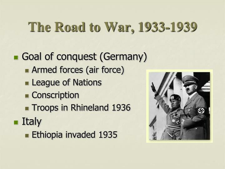 The Road to War, 1933-1939