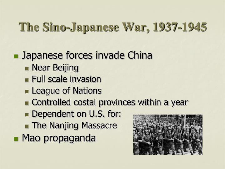 The Sino-Japanese War, 1937-1945