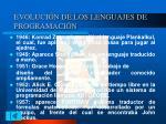 evoluci n de los lenguajes de programaci n