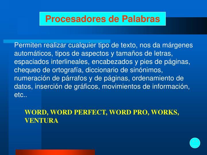Procesadores de Palabras
