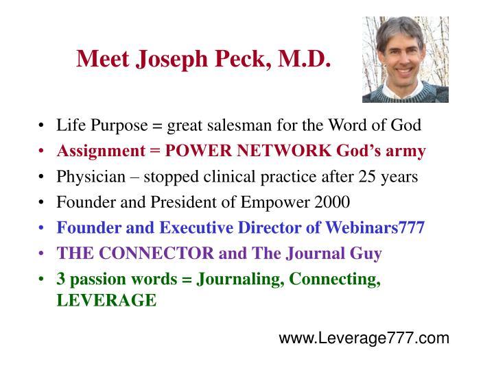 Meet Joseph Peck, M.D.