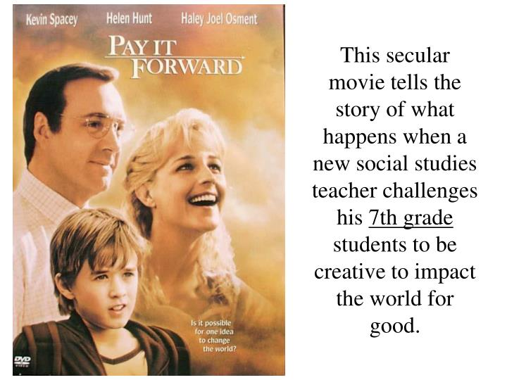 Pay It Forward – DVD front cover