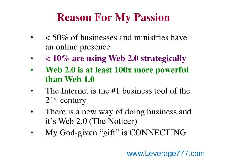 Reason For My Passion