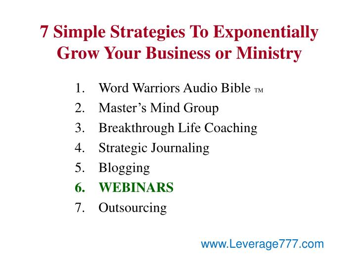 7 Simple Strategies To Exponentially