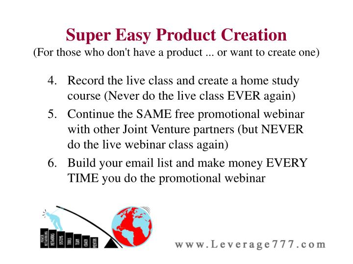 Super Easy Product Creation