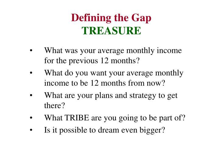 Defining the Gap