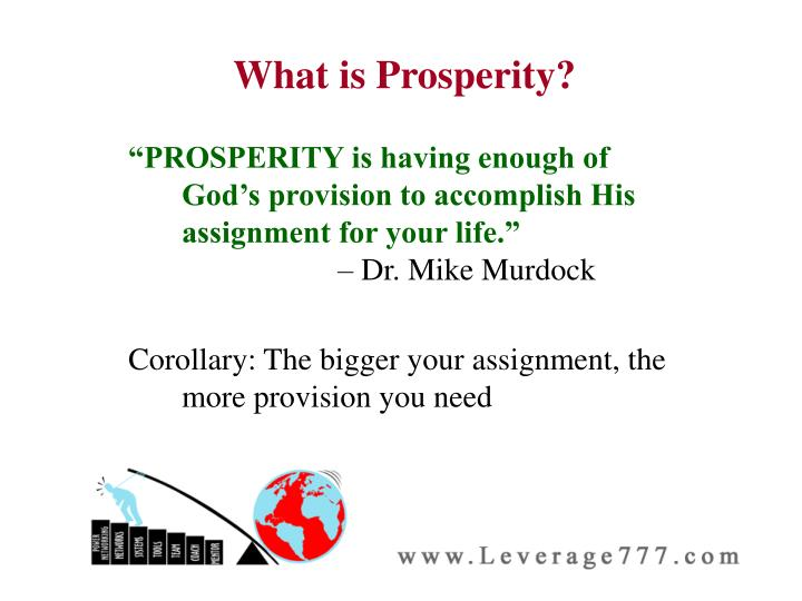 What is Prosperity?