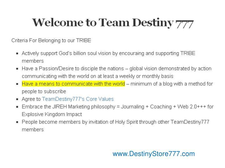 www.DestinyStore777.com