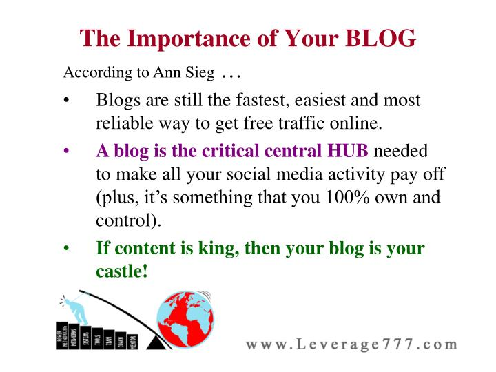 The Importance of Your BLOG