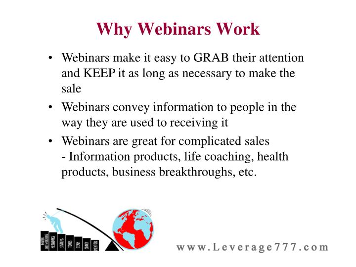 Why Webinars Work