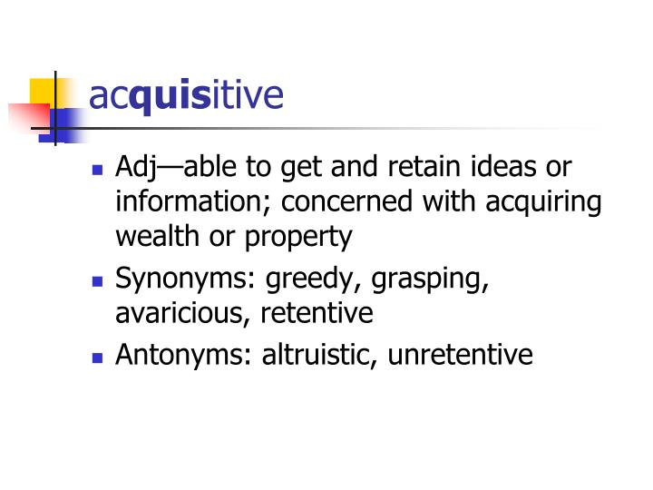 Ac quis itive