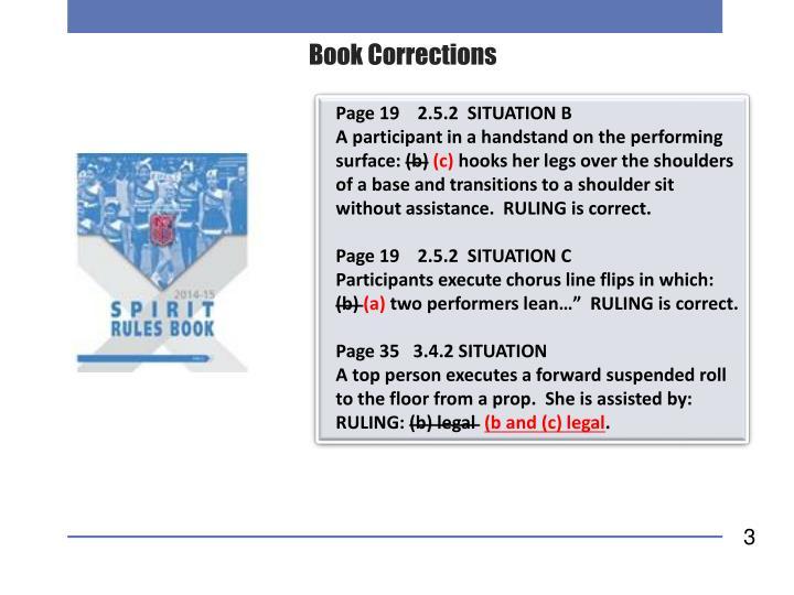 Book Corrections