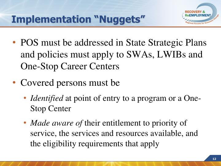 "Implementation ""Nuggets"""
