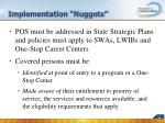 implementation nuggets