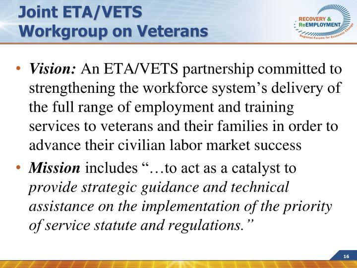Joint ETA/VETS