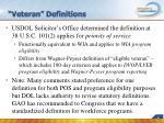 veteran definitions