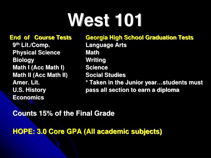 West 101