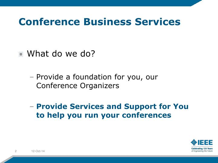 Conference Business Services