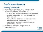 conference surveys