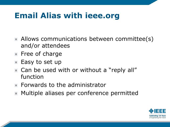 Email Alias with ieee.org