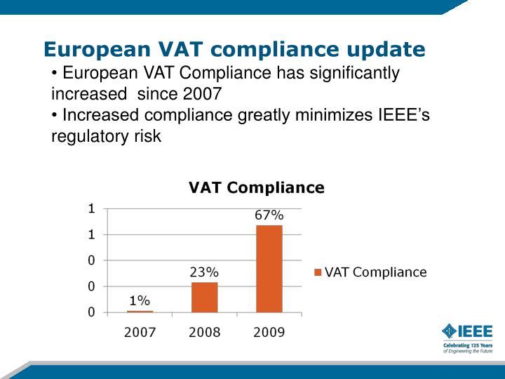 European VAT compliance update