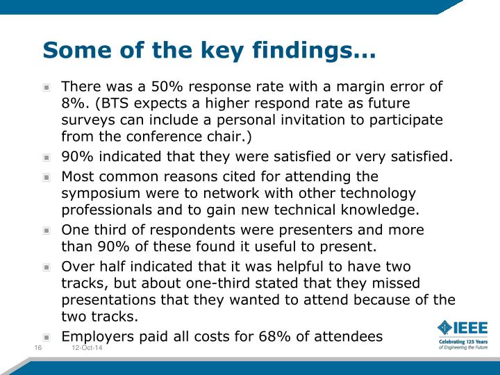 Some of the key findings...