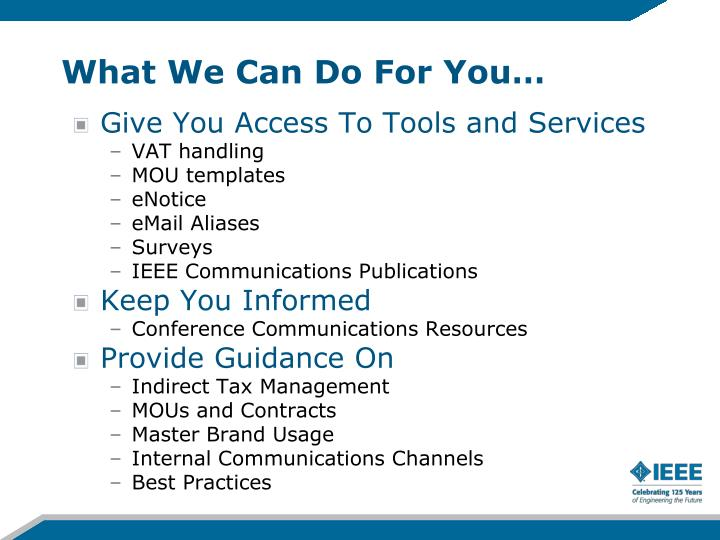 What We Can Do For You…