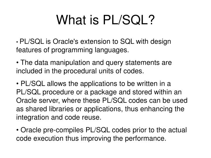 What is pl sql