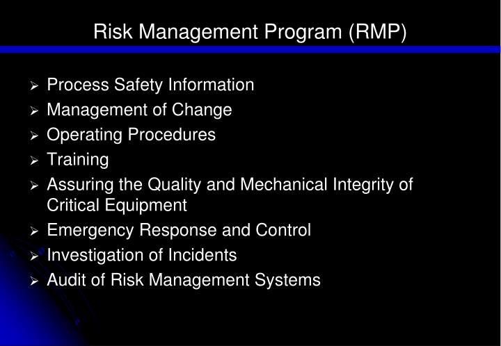Risk Management Program (RMP)