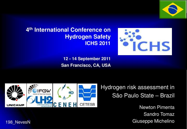 Hydrogen risk assessment in s o paulo state brazil