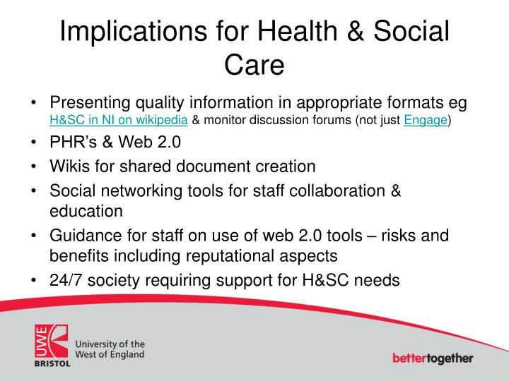 Implications for Health & Social Care