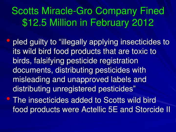 Scotts miracle gro company